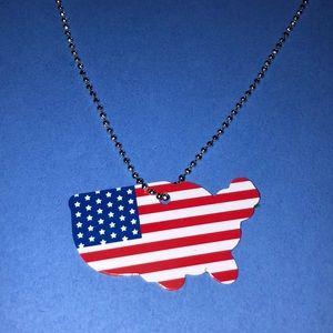 NEW America Shaped Dog Tag